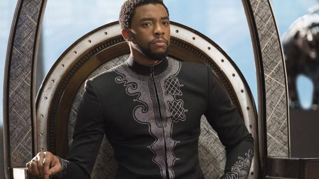 "T'Challa (Chadwick Boseman) rules over the early reviews of ""Black Panther."""