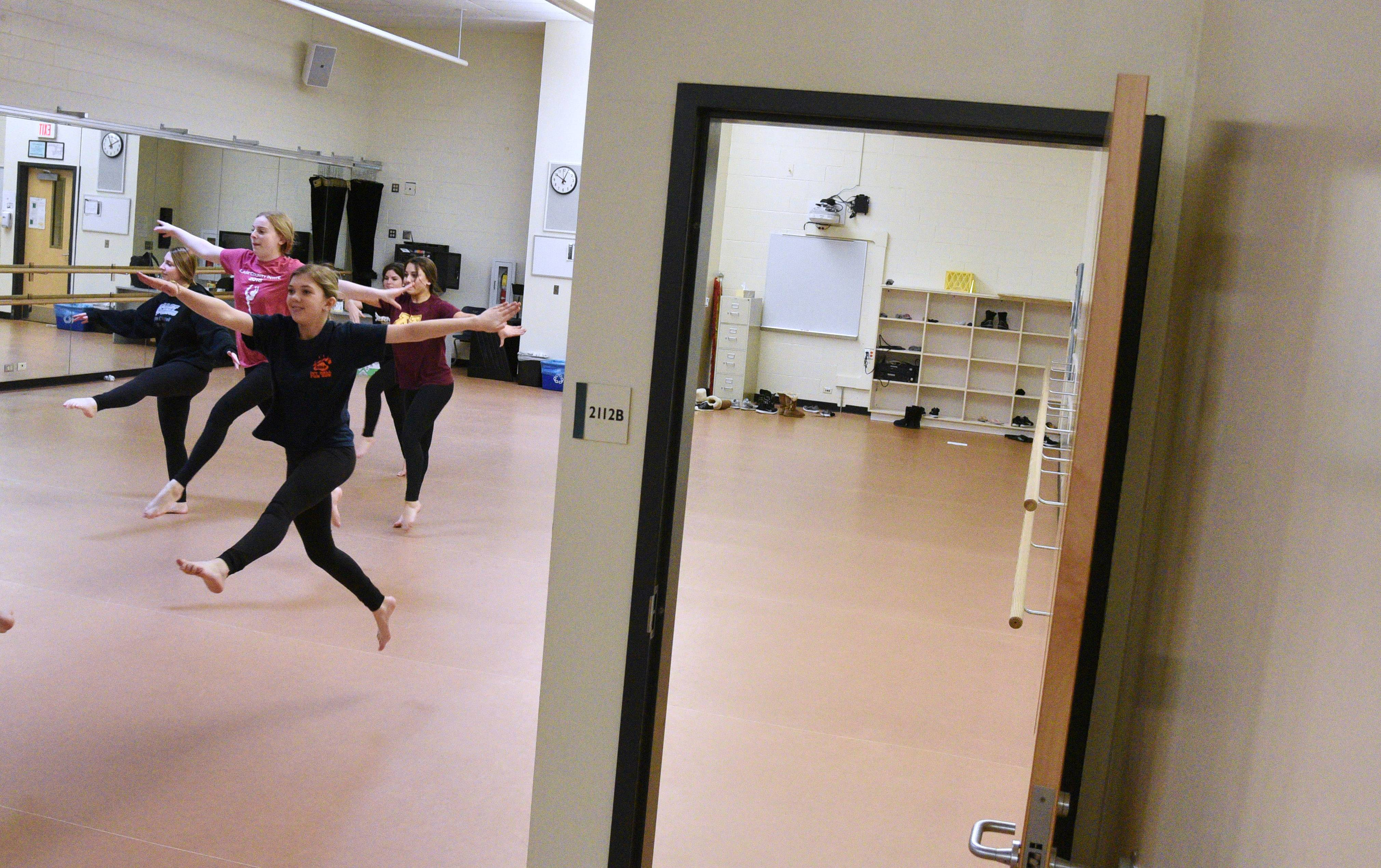 As part of a Stevenson High School improvement project this summer, a wall and doorway will be removed from one of the dance studios to provide more space.