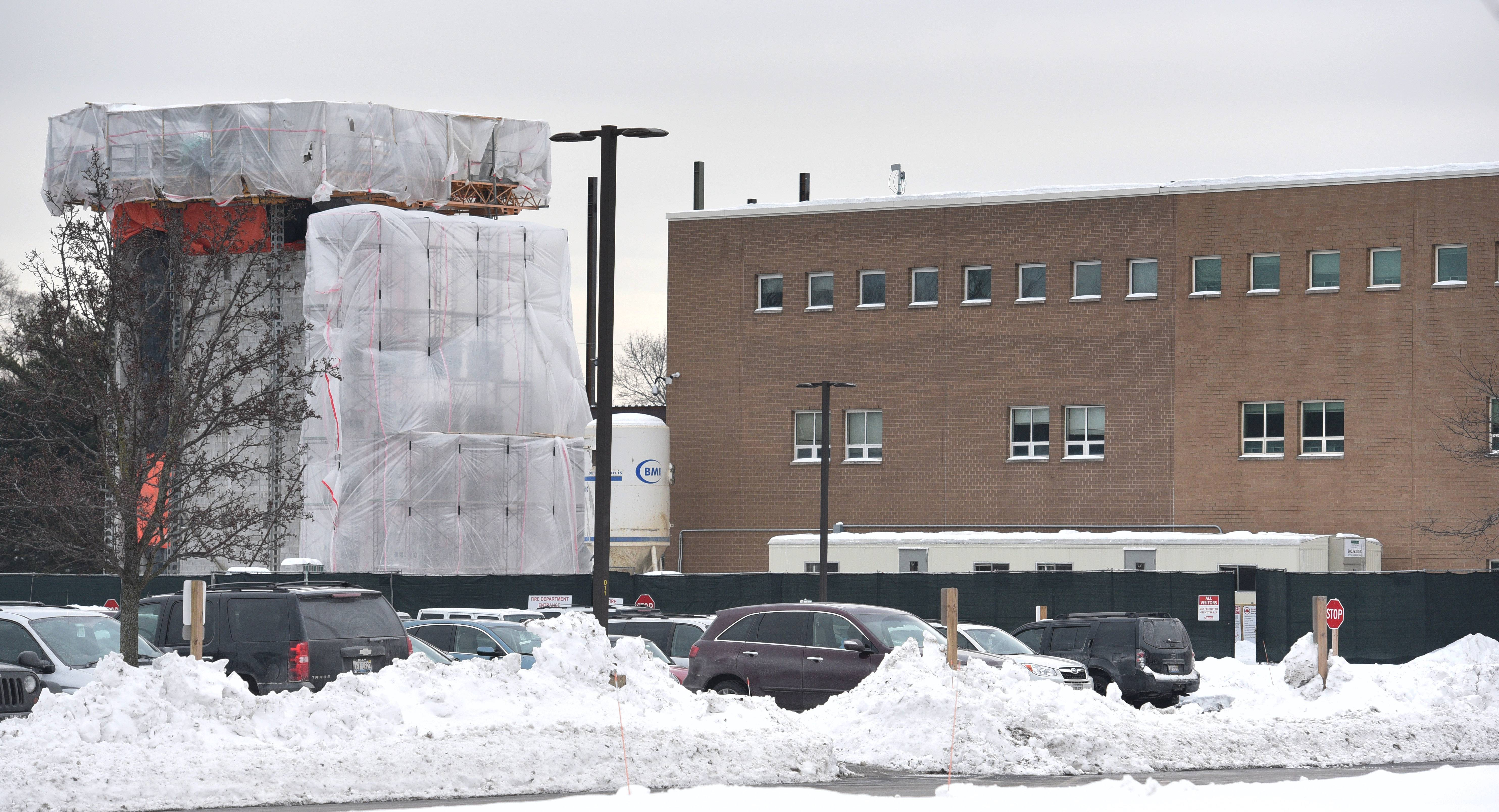 Stevenson High School's East Building will get a new roof this summer. An expansion project already has started at the Lincolnshire school.