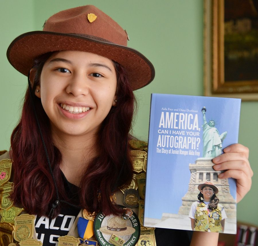 Aida Frey wrote a book about her adventures visiting national parks, monuments, battlefields, historic sites, beaches, recreation areas, scenic rivers and trails in the U.S. Her goal is to visit all 417.