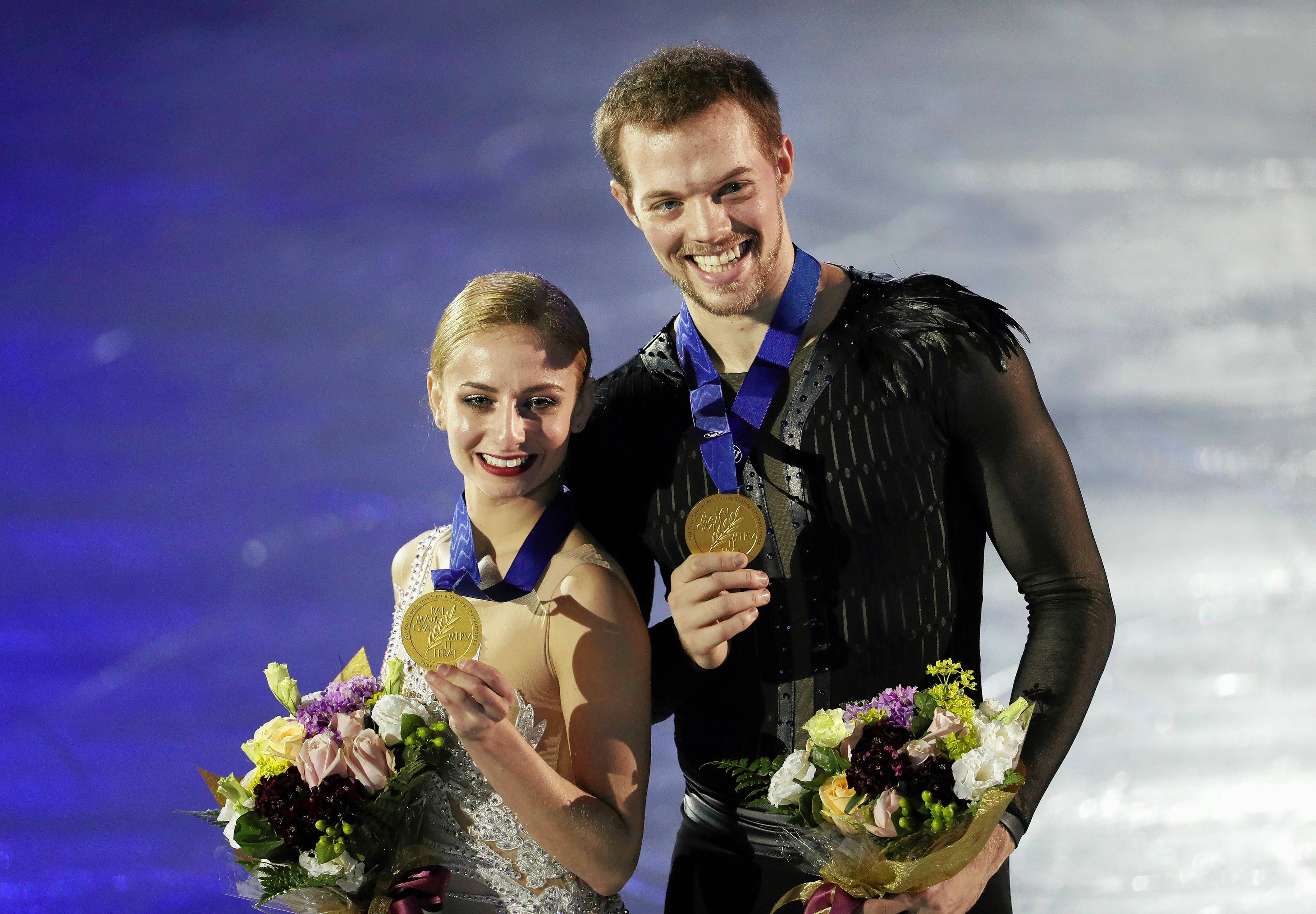 Tarah Kayne and Danny O'Shea scored a personal best in the free skate to win their first international title last month at the ISU Four Continents Figure Skating Championships.
