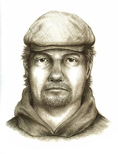 FILE - This composite sketch released July 17, 2017, by the Indiana State Police shows the man they consider the main suspect in the killings of teenage girls Liberty German, and Abigail Williams who disappeared from a hiking trail near their hometown of Delphi in northern Indiana on Feb. 13, 2017. Their bodies were discovered the next day. Authorities investigating the unsolved murders are hoping the crime's one-year anniversary spurs a wave of tips from the public that can lead them to the killer. (Indiana State Police via AP, File)
