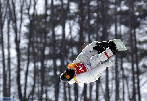 Shaun White, of the United States, jumps during the men's halfpipe qualifying at Phoenix Snow Park at the 2018 Winter Olympics in Pyeongchang, South Korea, Tuesday, Feb. 13, 2018.