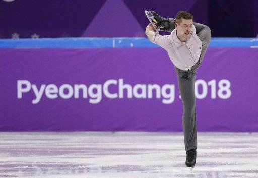 Germany's Paul Fentz performs in the men's single short program team event at the 2018 Winter Olympics in Gangneung, South Korea, Friday, Feb. 9, 2018.