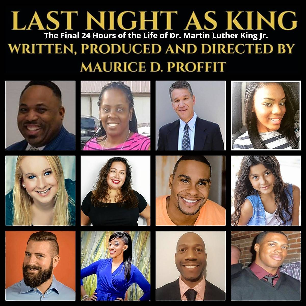 "Powerhouse Productions' 2018 Black History Month play, ""Last Night as King,"" will be performed Feb. 24 at Schaumburg's Al Larson Prairie Center for the Arts."