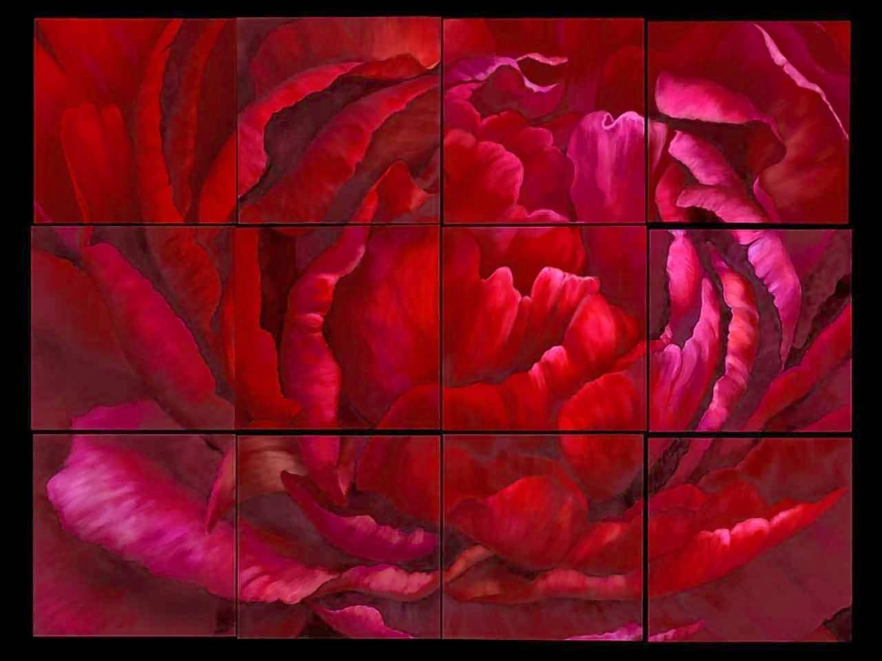 "Bartlett resident Marianne Andersen's digital art, ""Pixilated Red Peony,"" will be one of the works on display in the exhibit ""On a Grand Scale"" at Arts in Bartlett."