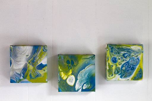 Try acrylic pour painting and go with the flow for Paint n pour