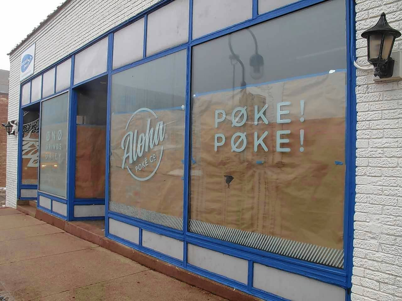 Chicago-based sushi bowl chain Aloha Poke plans to open a restaurant in two to three months after it builds out the space at 215 S. Washington St. in downtown Naperville.