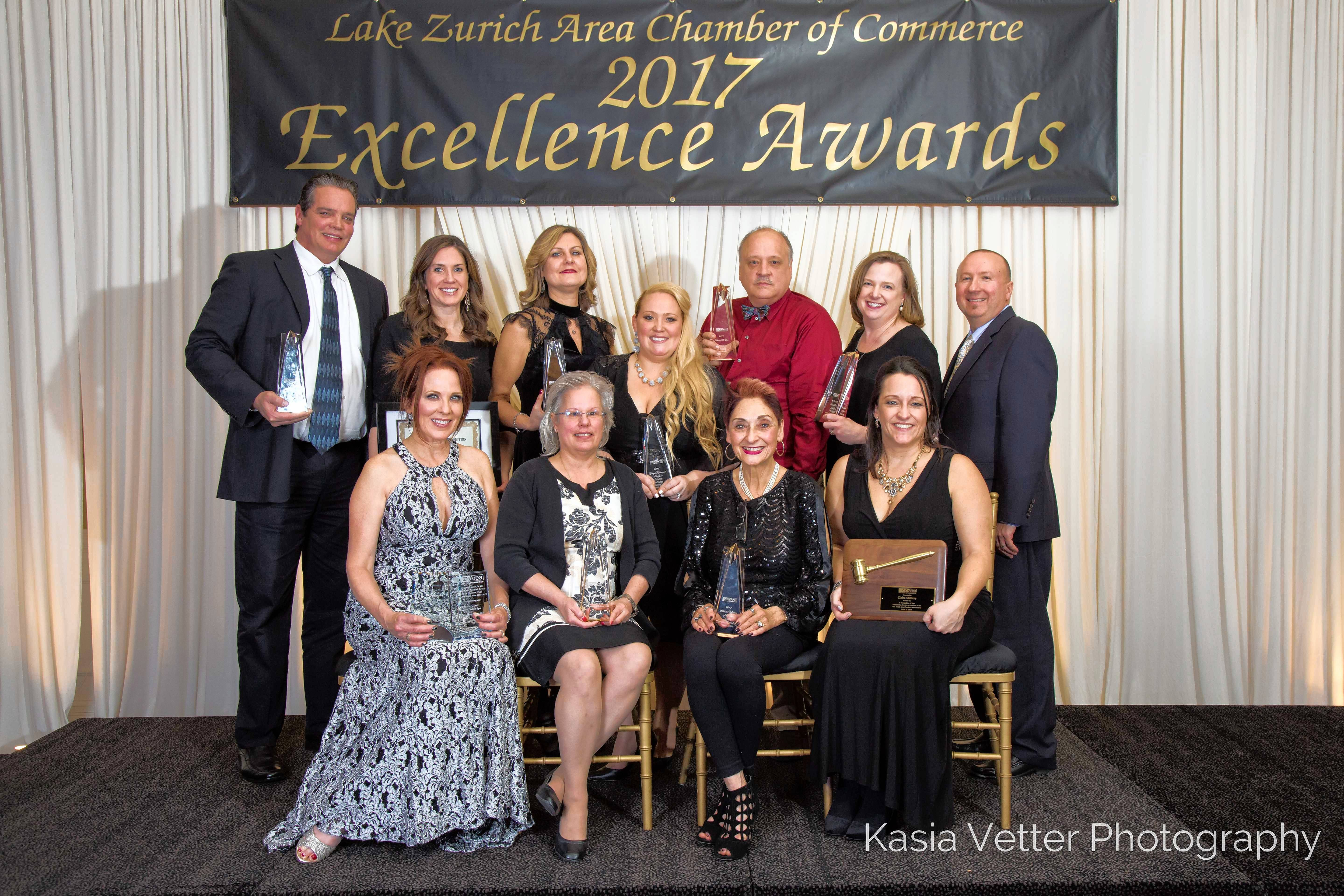The Lake Zurich Area Chamber of Commerce announced the award recipients for the 2017 Excellence Awards at their annual Evening of Excellence Awards Gala.