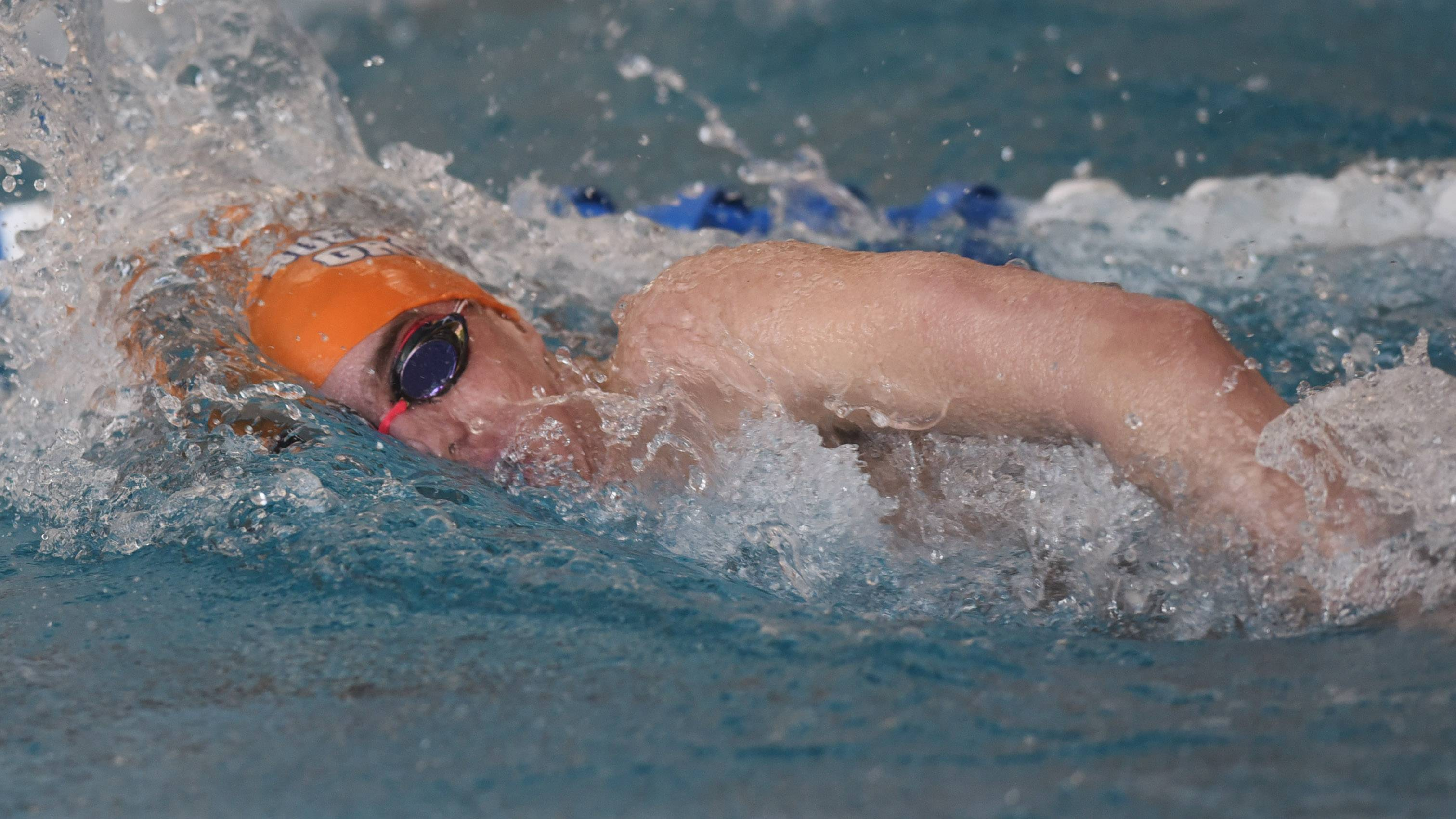 Buffalo Grove's Daniel Verdico swims the 200-yard freestyle during the Mid-Suburban League boys swimming meet at Prospect last weekend. He'll race in the 200 and 500 frees at Stevenson on Saturday.