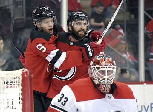 Hischier, Noesen lead Devils to 5-2 win over Hurricanes