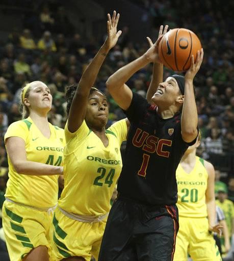 Hebard sets NCAA record, No. 9 Oregon beats USC in 2nd OT