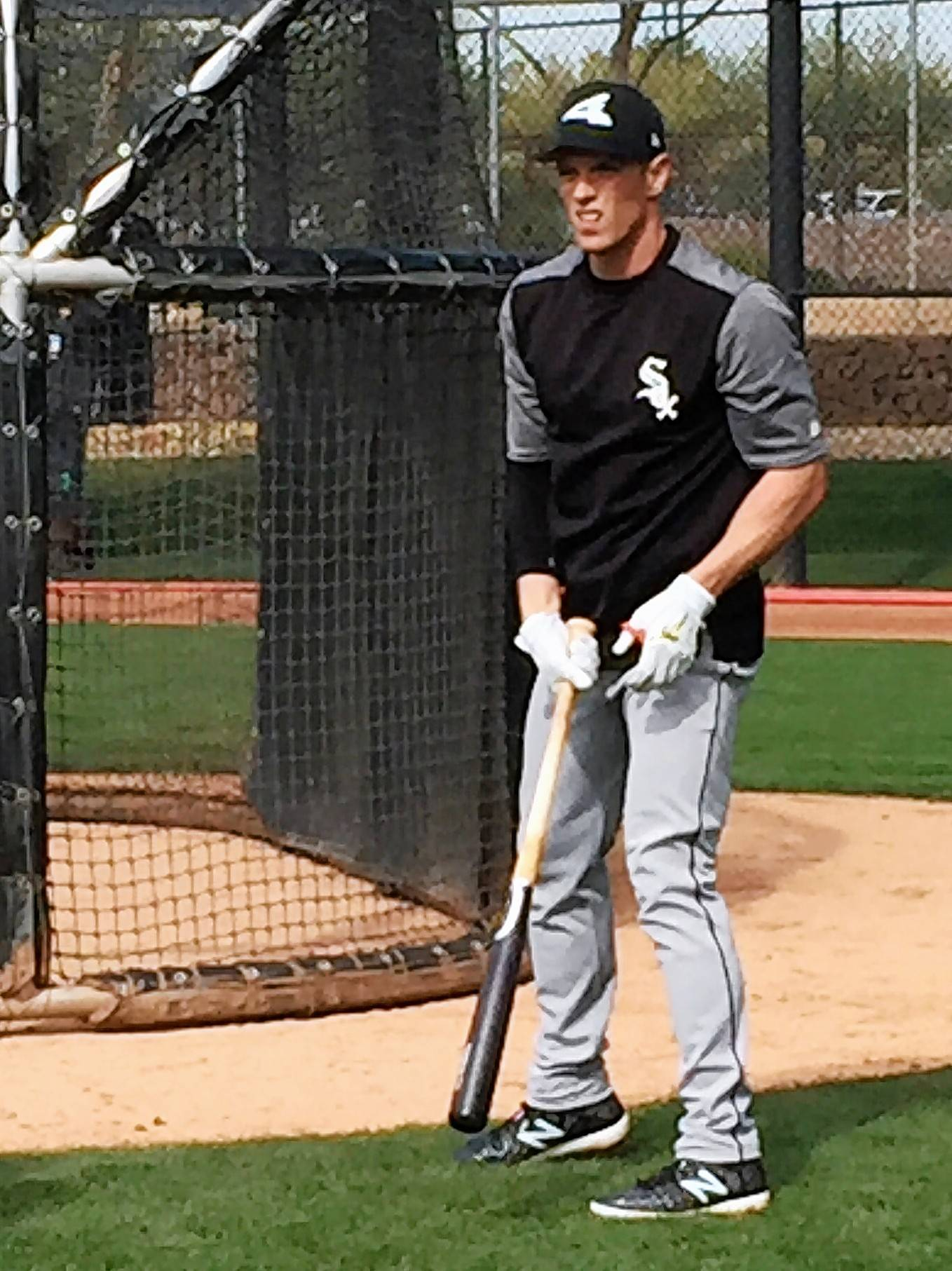 SCOT GREGOR/sgregor@dailyherald.com Charlie Tilson of the Chicago White Sox gets ready for some batting practice Saturday at Camelback Ranch in Glendale, Ariz., the spring-training home of the White Sox.