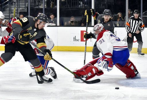 6aca3de39 Smith leads Golden Knights to 6-3 win over Canadiens