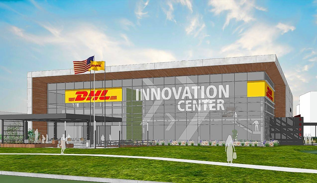A two-story, 27,905-square-foot DHL Innovation Center is expected to open next year in Rosemont, with exhibit space showcasing the company's products and projects in development.