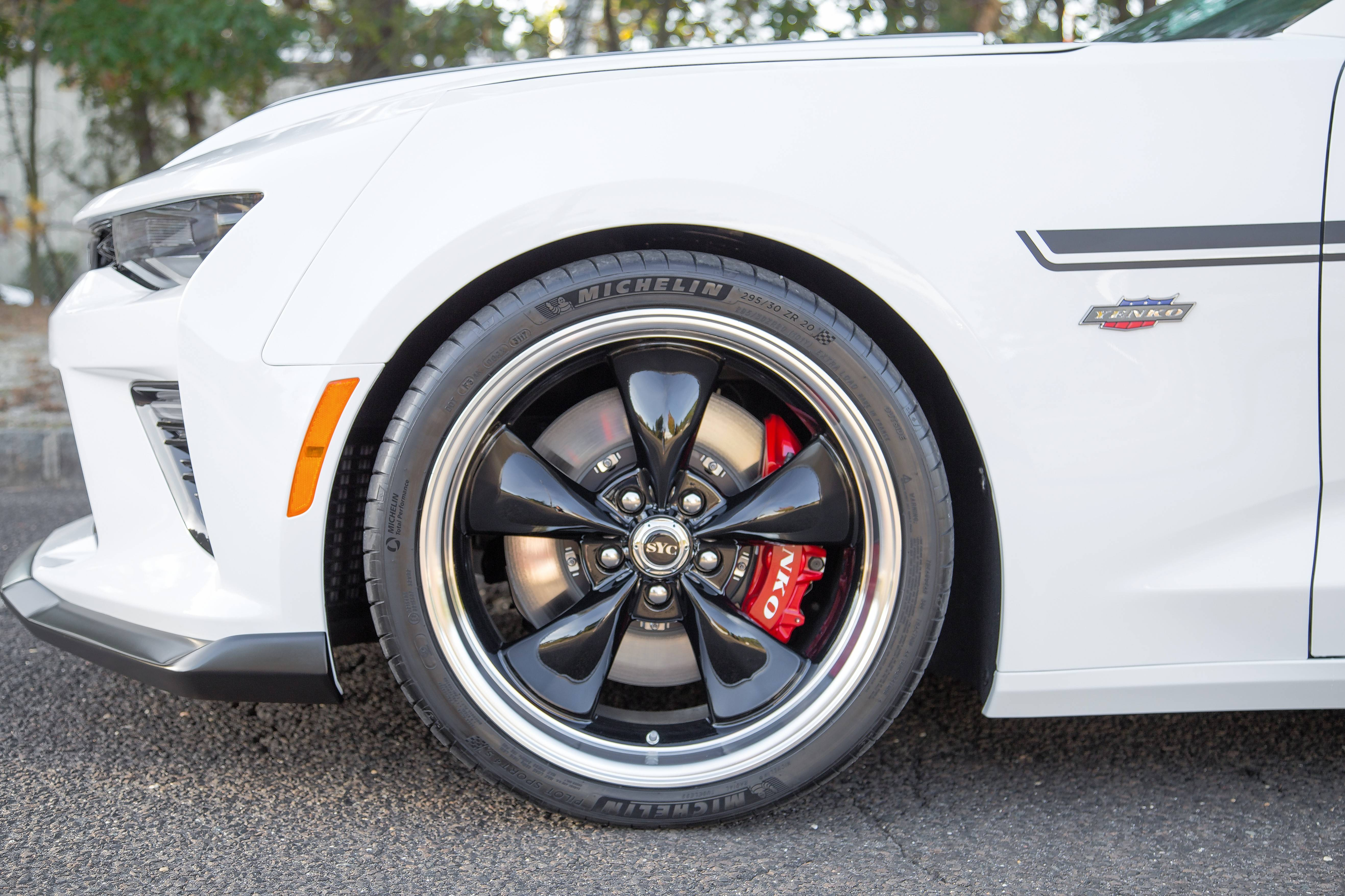 The special Camaro is equipped with Brembo brakes with six-piston front calipers and 14.5-inch rotors.