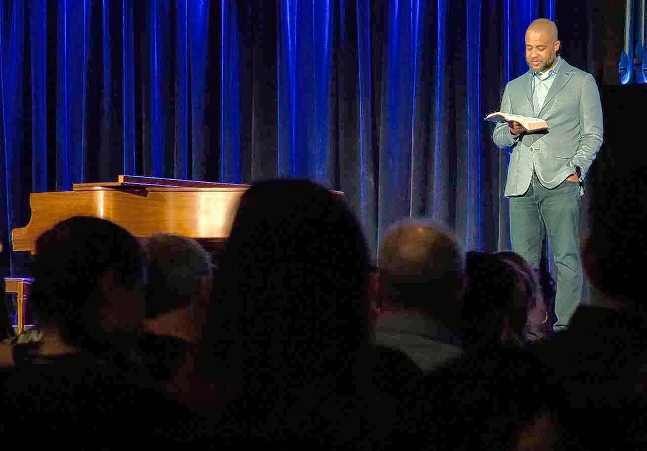 "Bryan Loritts, pastor of Abundant Life Church in Mountain View, California, speaks Monday about extending God's love, even when it is difficult to do so, during the kickoff of Judson University's ""Beyond Colorblind"" chapel series in Elgin."