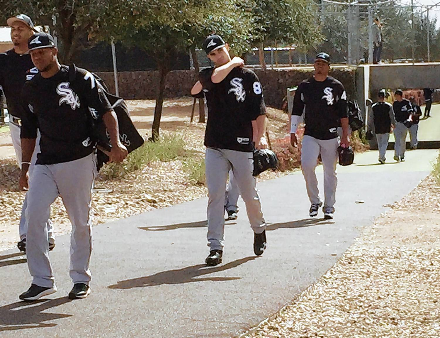 Chicago White Sox players reported to camp for the first full squad working of spring training at Camelback Ranch in Glendale, Arizona.