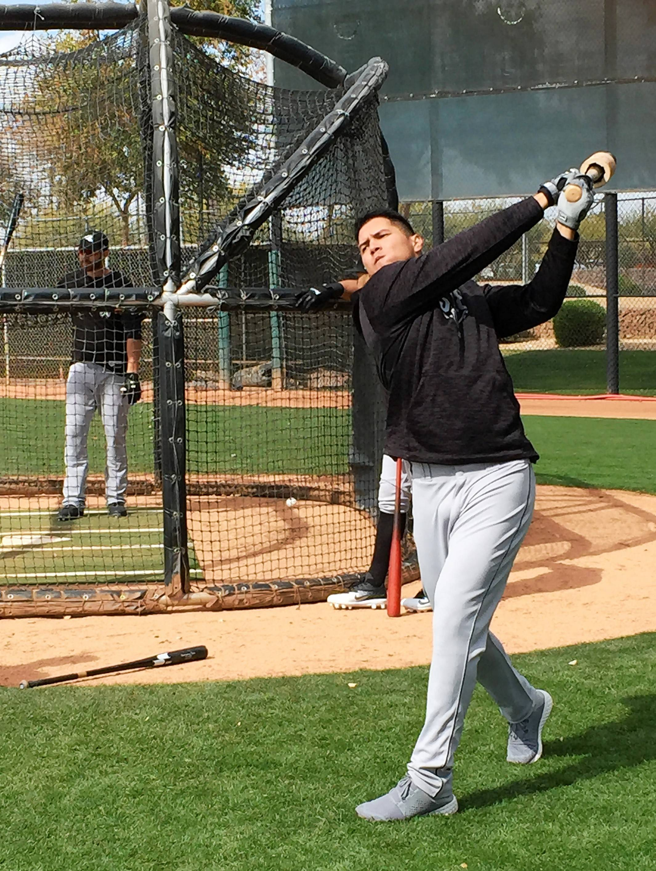Chicago White Sox outfielder Avisail Garcia was on hand for the team's first full squad workout Monday at Camelback Ranch in Glendale, Arizona.