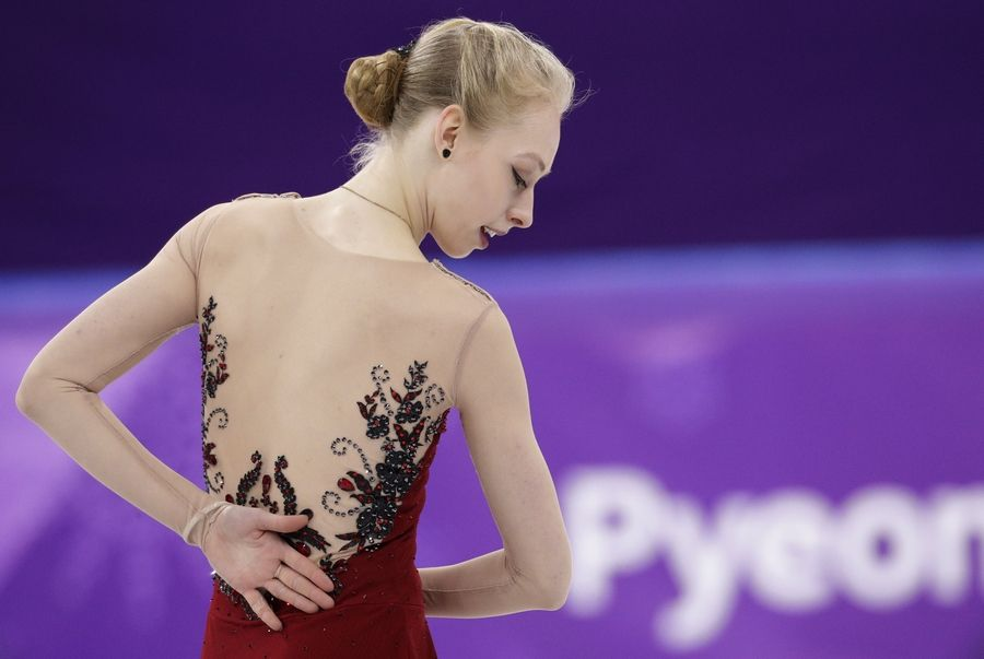 Bradie Tennell of the United States performs in the women's short program figure skating in the Gangneung Ice Arena at the 2018 Winter Olympics in Gangneung, South Korea, Wednesday, Feb. 21, 2018.