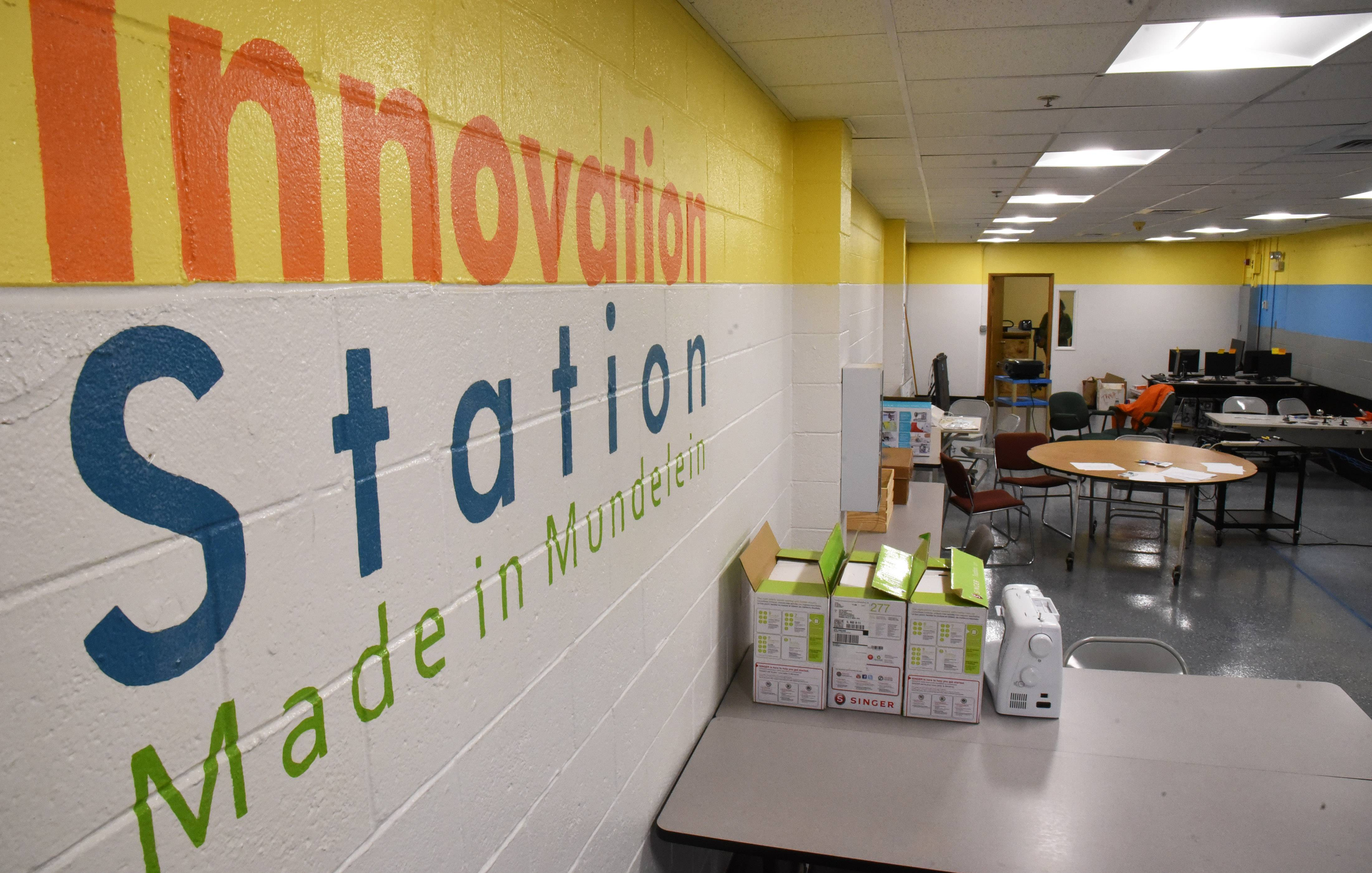 Mundelein District 75 converted a storage room at its office in downtown Mundelein into Innovation Station.