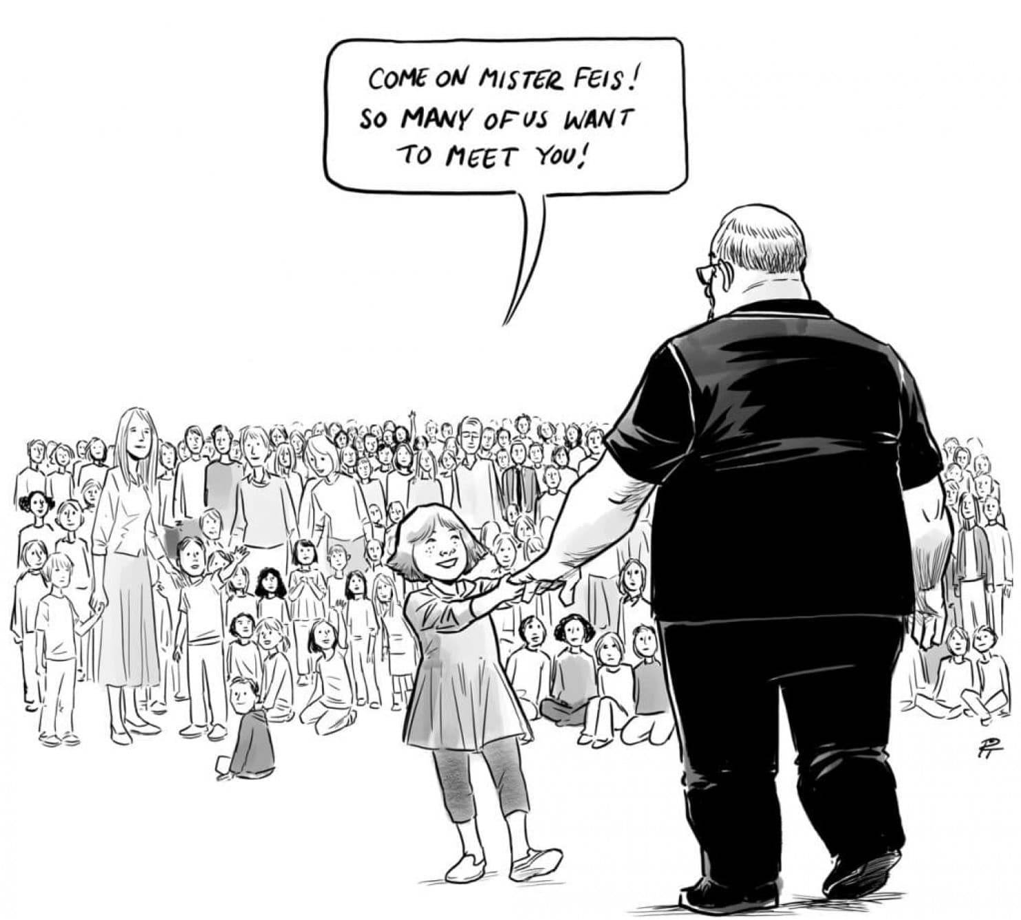 "The ""Hero's Welcome"" editorial cartoon by Canadian artist Pia Guerra."