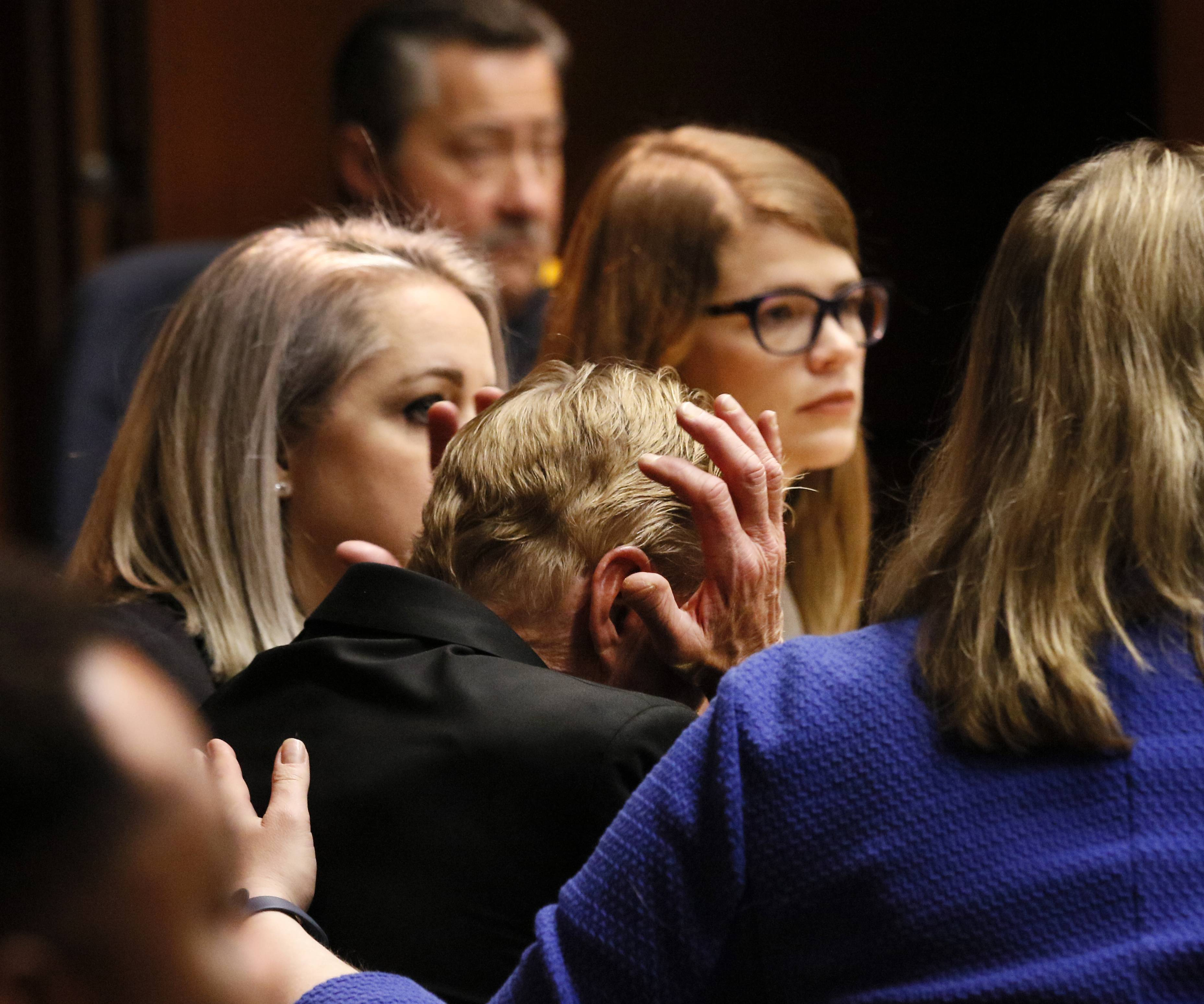 William Amor reacts to DuPage County Judge Liam Brennan's not-guilty verdict Wednesday at the DuPage County Courthouse. Amor was on trial for charges of first-degree murder and arson in the 1995 death of his mother-in-law in Naperville.