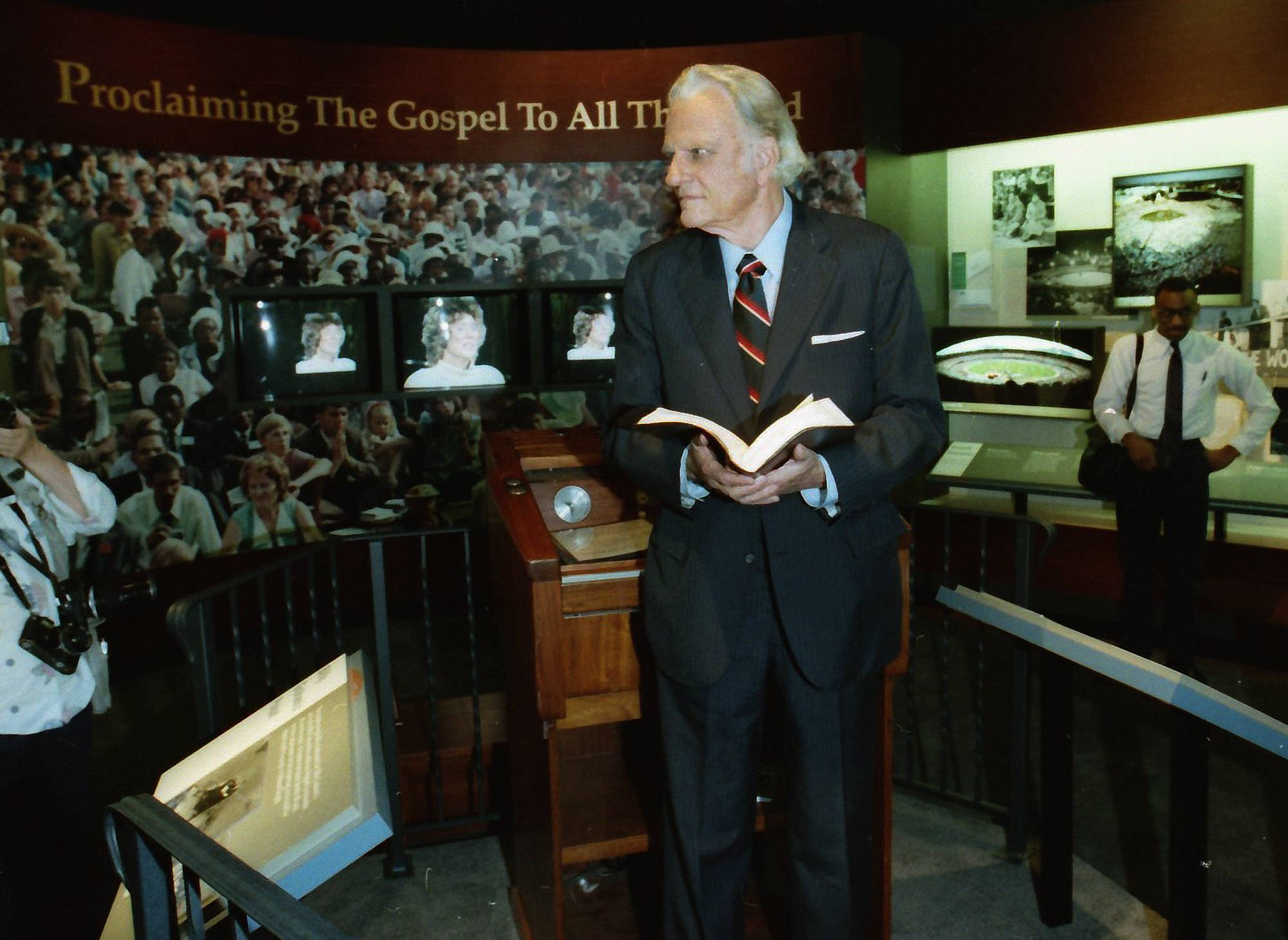 The Rev. Billy Graham last visited Wheaton College on May 11, 1994, where he stood at his original pulpit that was on display at the school's Billy Graham Museum.