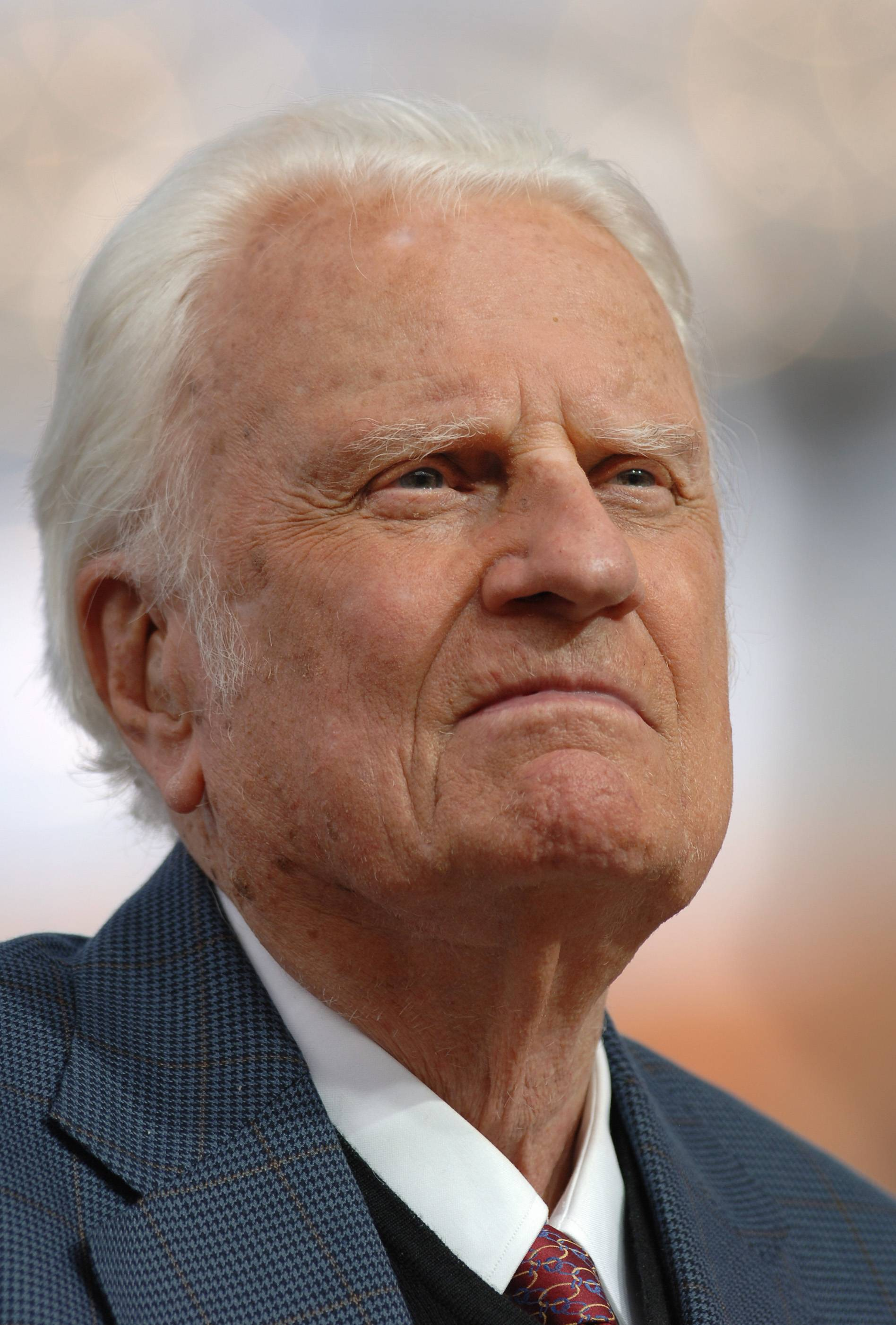 Rev. Billy Graham, who died Wednesday, delivers a sermon during the Metro Maryland Festival in July 2006.