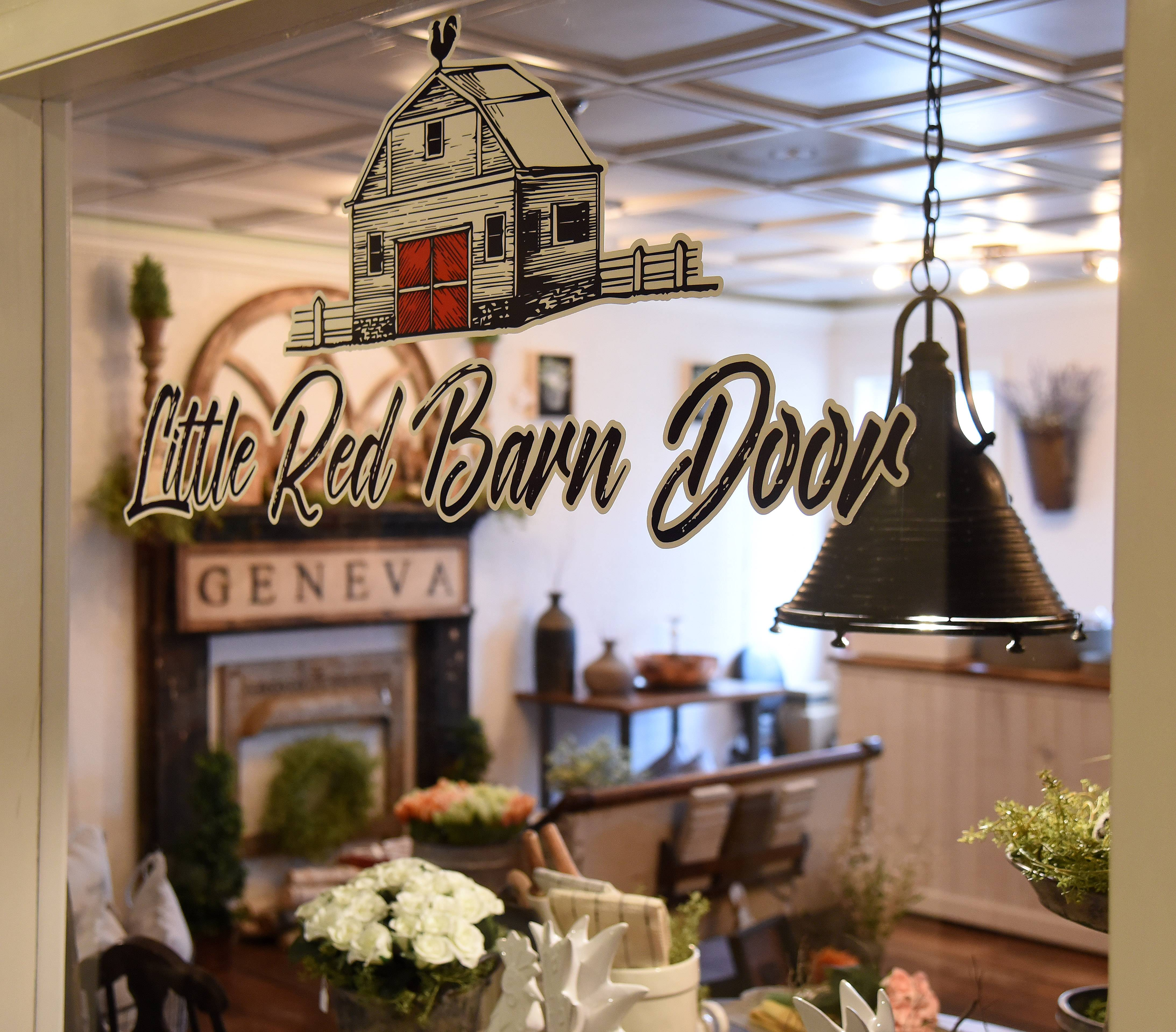 Little Red Barn Door home décor and furniture shop is new to the Berry House Shops at 227 S. Third St. in Geneva.