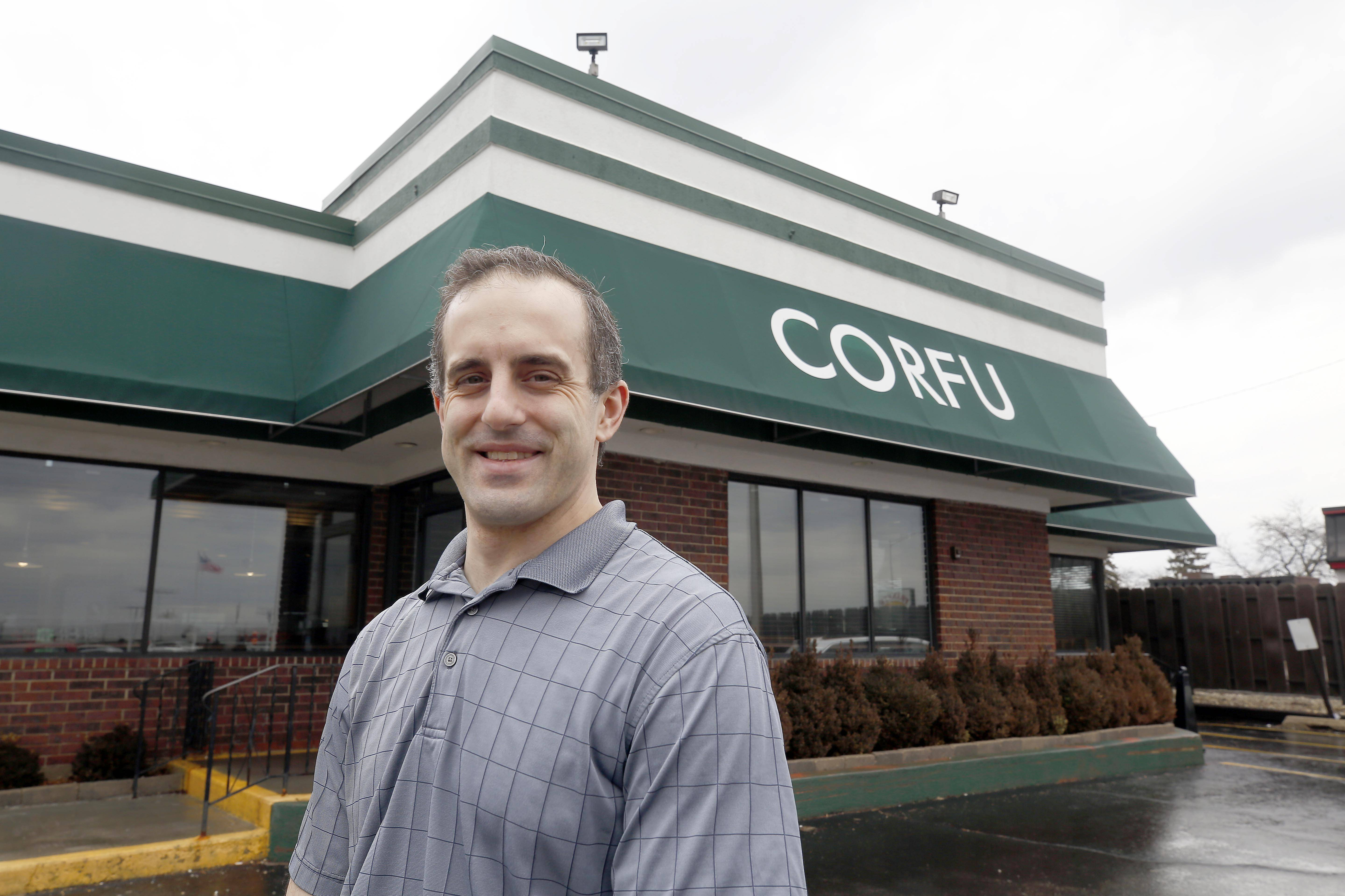 Ari Golegos is the owner of Corfu restaurant in St. Charles. Contrary to rumor, the restaurant has no plans to close.