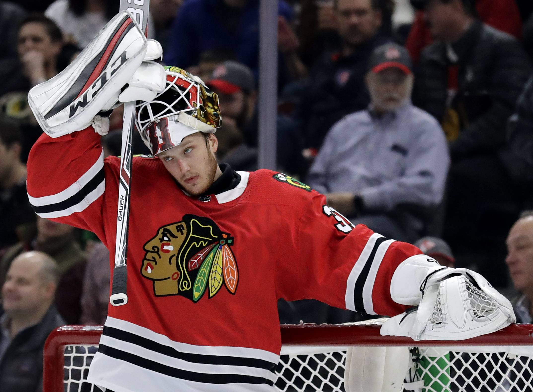 It's time for Anton Forsberg to show what he can do in net on a consistent basis for the Chicago Blackhawks. In Wednesday's 3-2 shootout victory over Ottawa at the United Center. Forsberg stopped 32 shots and 5 more in a shootout that lasted seven rounds