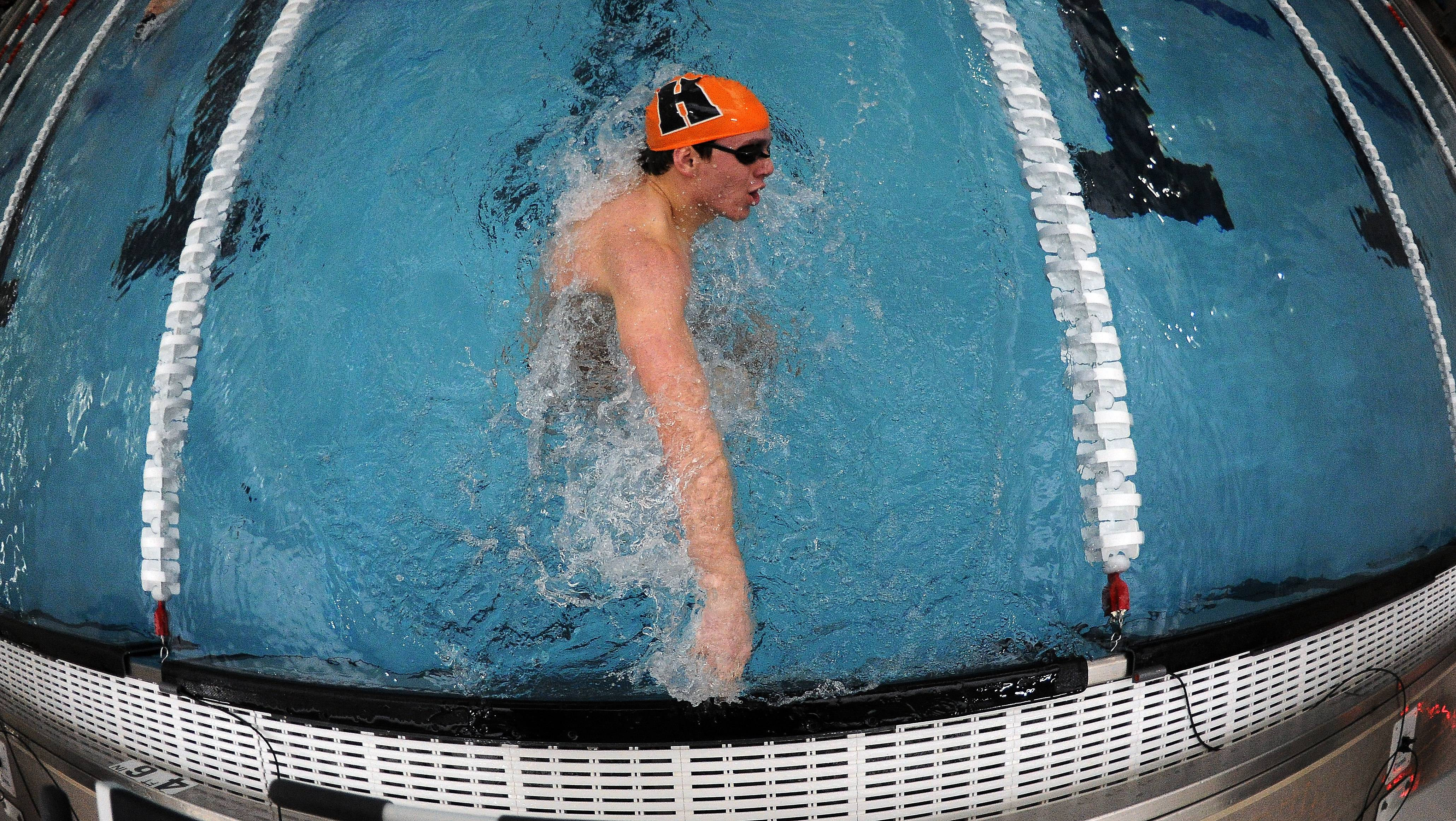 Hersey senior Michael Petro is after an individual state championship in this weekend's state meet at Evanston. He's the top seed in the 200 IM and No. 3 in the 100 fly.