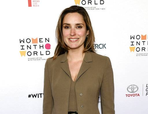 "FILE - In this April 6, 2016 file photo, CBS News correspondent Margaret Brennan arrives at the 7th Annual Women in the World Summit opening night in New York. CBS News has named Brennan as moderator of the Sunday morning political talk show ""Face the Nation,"" replacing John Dickerson. (Photo by Evan Agostini/Invision/AP, File)"
