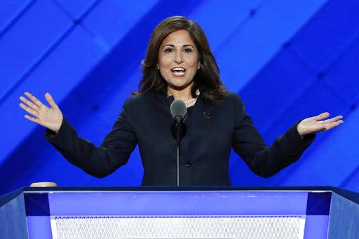 "FILE - In this July 27, 2016, file photo, Neera Tanden, president of the Center for American Progress, speaks at the Democratic National Convention in Philadelphia. A major liberal policy group is raising the ante on the health care debate with a new plan that builds on Medicare to guarantee coverage for all. Called ""Medicare Extra for All,� the proposal to be released Feb. 22, 2018, by the Center for American Progress gives politically energized Democrats more options to achieve a long-sought goal. (AP Photo/J. Scott Applewhite, File)"