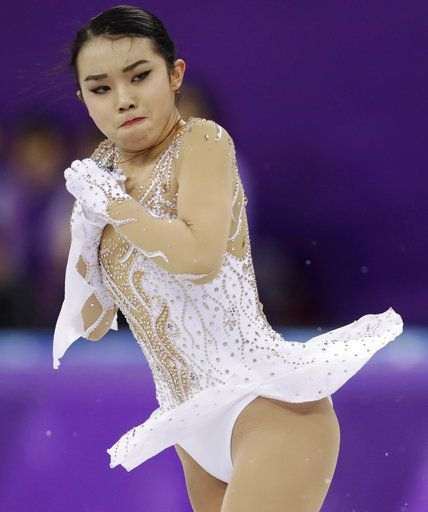 Karen Chen of the United States performs during the women's short program figure skating in the Gangneung Ice Arena at the 2018 Winter Olympics in Gangneung, South Korea, Wednesday, Feb. 21, 2018.