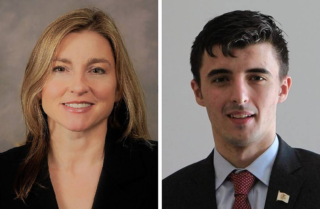 Karen Feldman, left, and Marko Sukovic are Republican candidates for state representative in the 59th District.