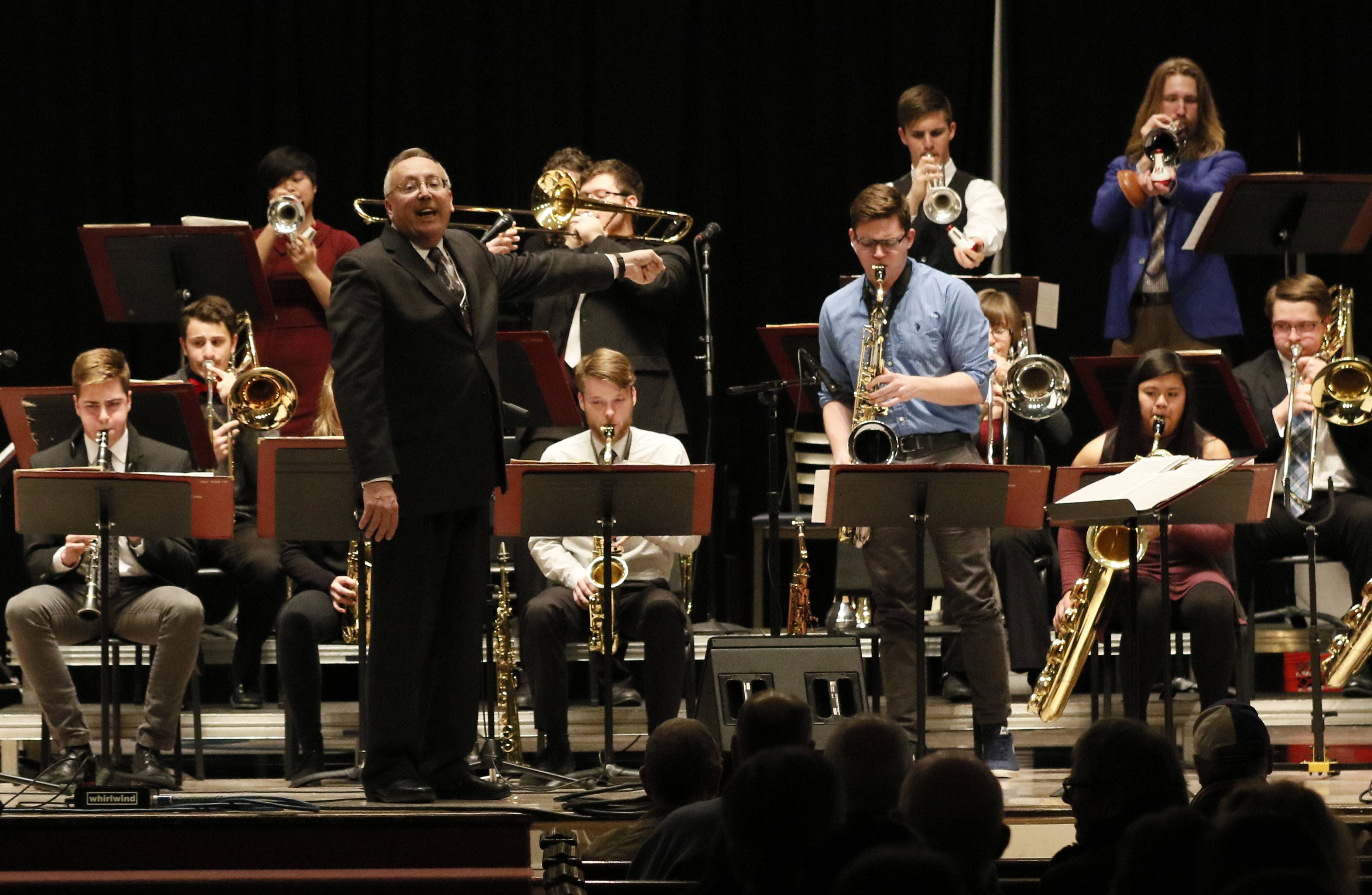 Morningside College Big Band Director Russ Nagel Acknowledges A Solo  Performance During The 51st Annual Elmhurst
