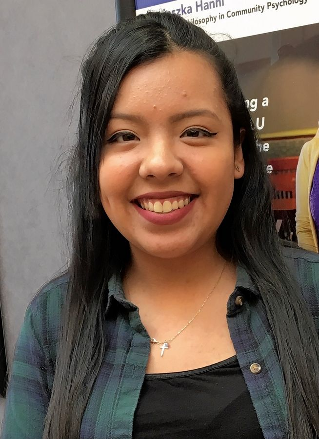 Carina Bailon is the first in her family to attend college.