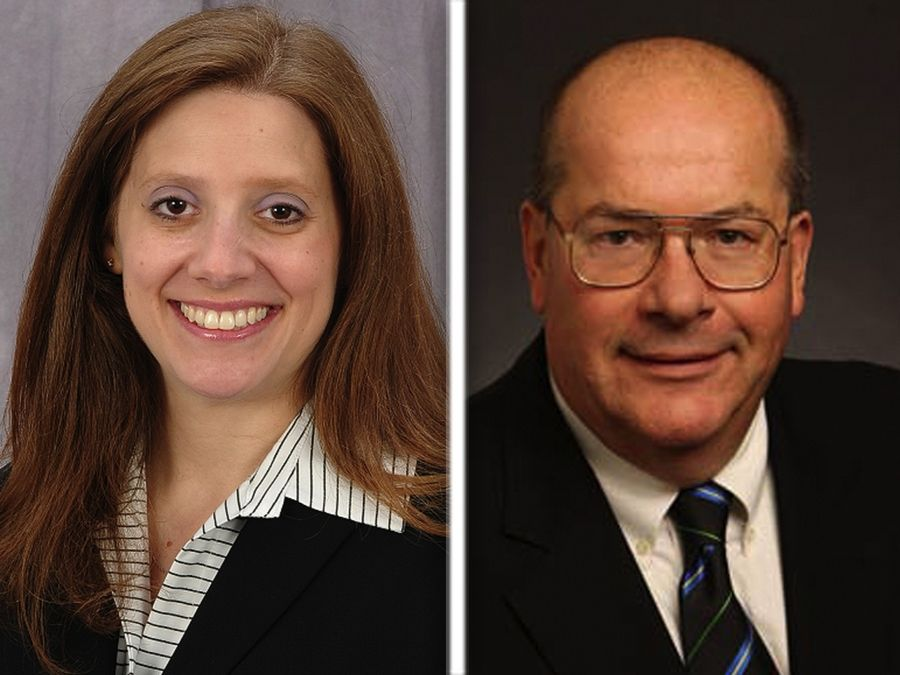 Jeralyn Atleson, left, and Charles Bartels are Republican candidates for County Board Dist. 10 in Lake County