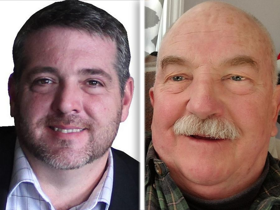 Dick Barr, left, and James Creighton Mitchell Jr. are Republican candidates for Lake County Board Dist. 3