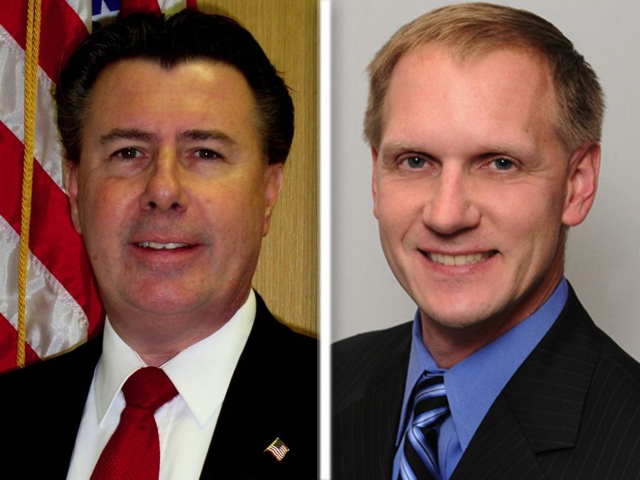 Bob Bednar, left, and Jeff Werfel are Republican  candidates for County Board Dist. 6 in Lake County