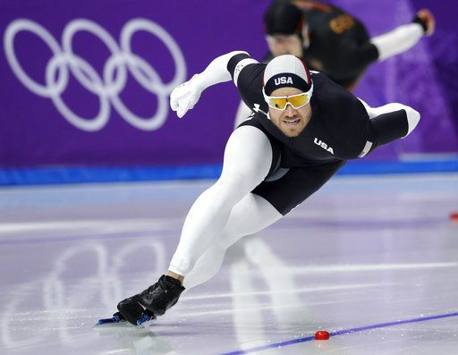 FILE - In this Feb. 23, 2018 file photo, Joey Mantia of the U.S. competes during the men's 1,000 meters speedskating race at the Gangneung Oval at the 2018 Winter Olympics in Gangneung, South Korea. Americans faltered on the Winter Olympic stage, leaving some big questions to address heading toward 2022. Long-track speedskating made off with a single bronze, when it was projected to win at least three medals and had a target of four.  Although Mantia was reigning world champion, he came up about a second short of a bronze medal in the mass start.