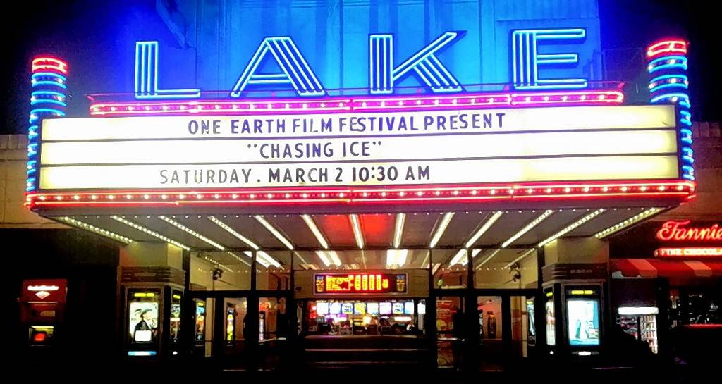 "The Classic Cinemas Lake Theatre in Oak Park hosts a film in a previous One Earth Film Festival. This year, the theater will screen ""Chasing Coral"" at 10 a.m. March 3."