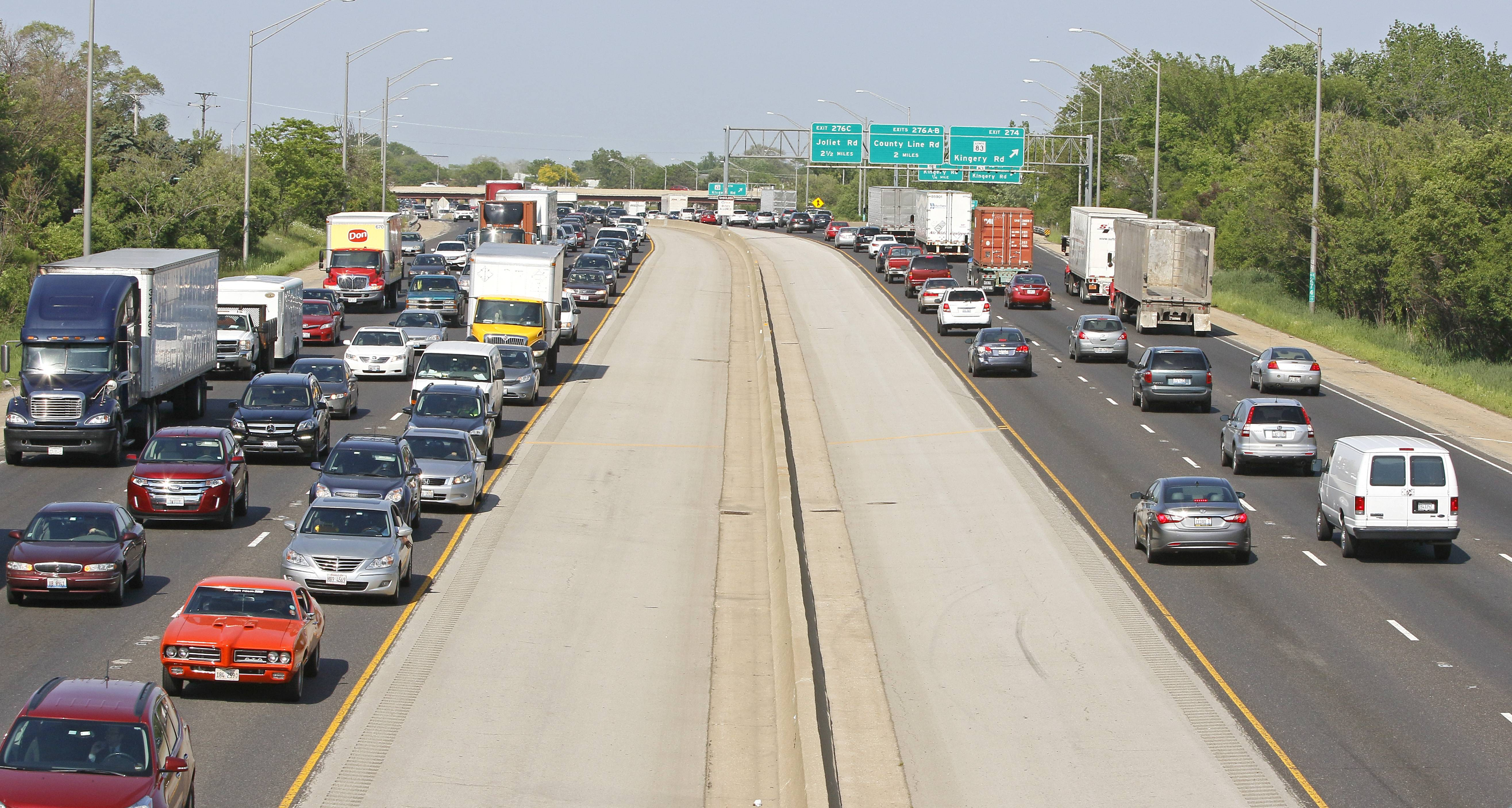 Drivers using I-55 near Clarendon Hills should expect a tolled express lane in the future, according to Illinois State Department of Transportation plans.