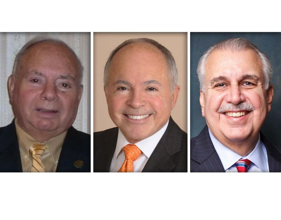 From left, Paul DeMichele, Dino Gavanes and Sam Tornatore are Republican candidates for DuPage County Board District 1.