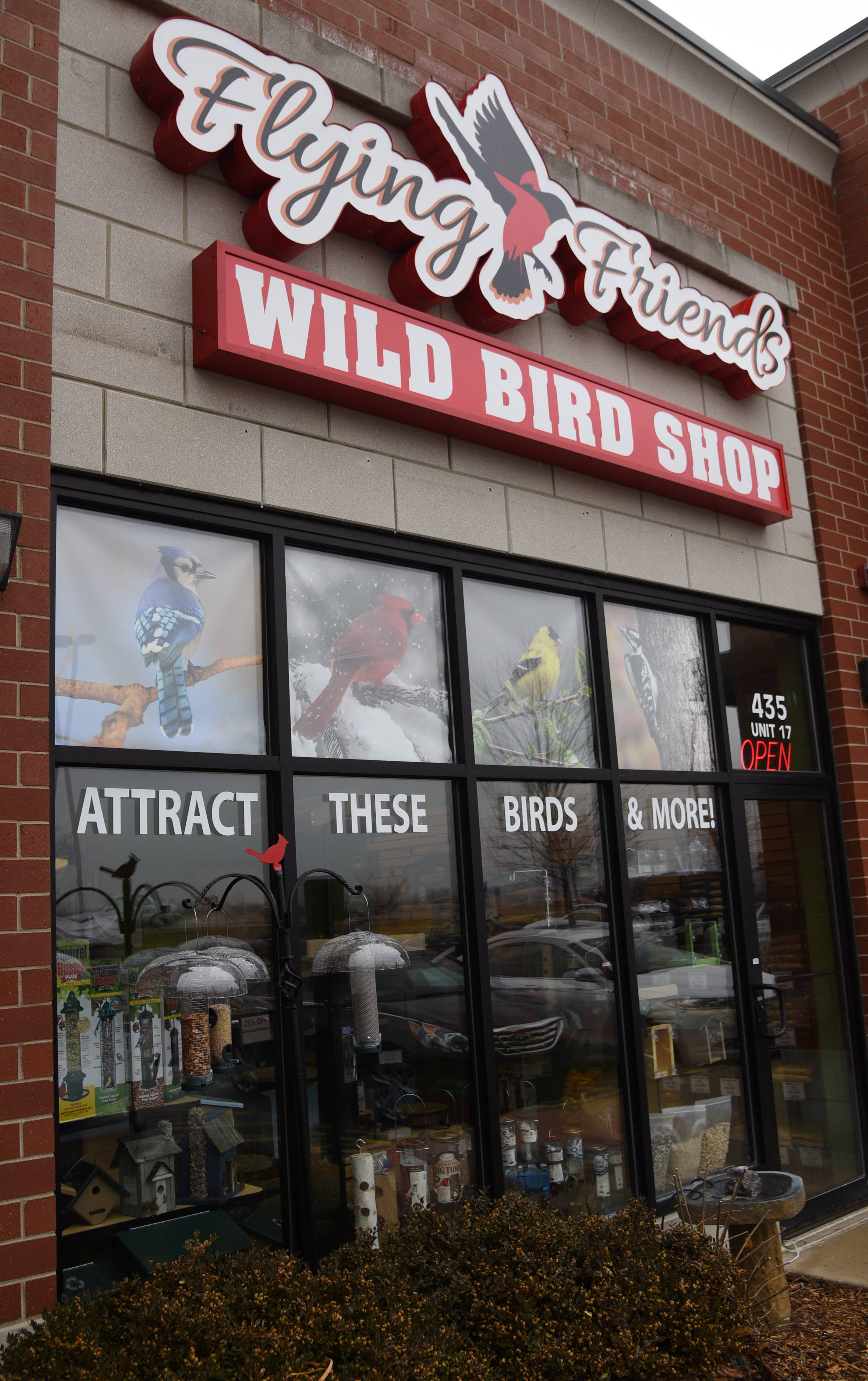 Flying Friends Wild Bird Shop is now open at 435 Angela Lane near Randall Road in Crystal Lake.
