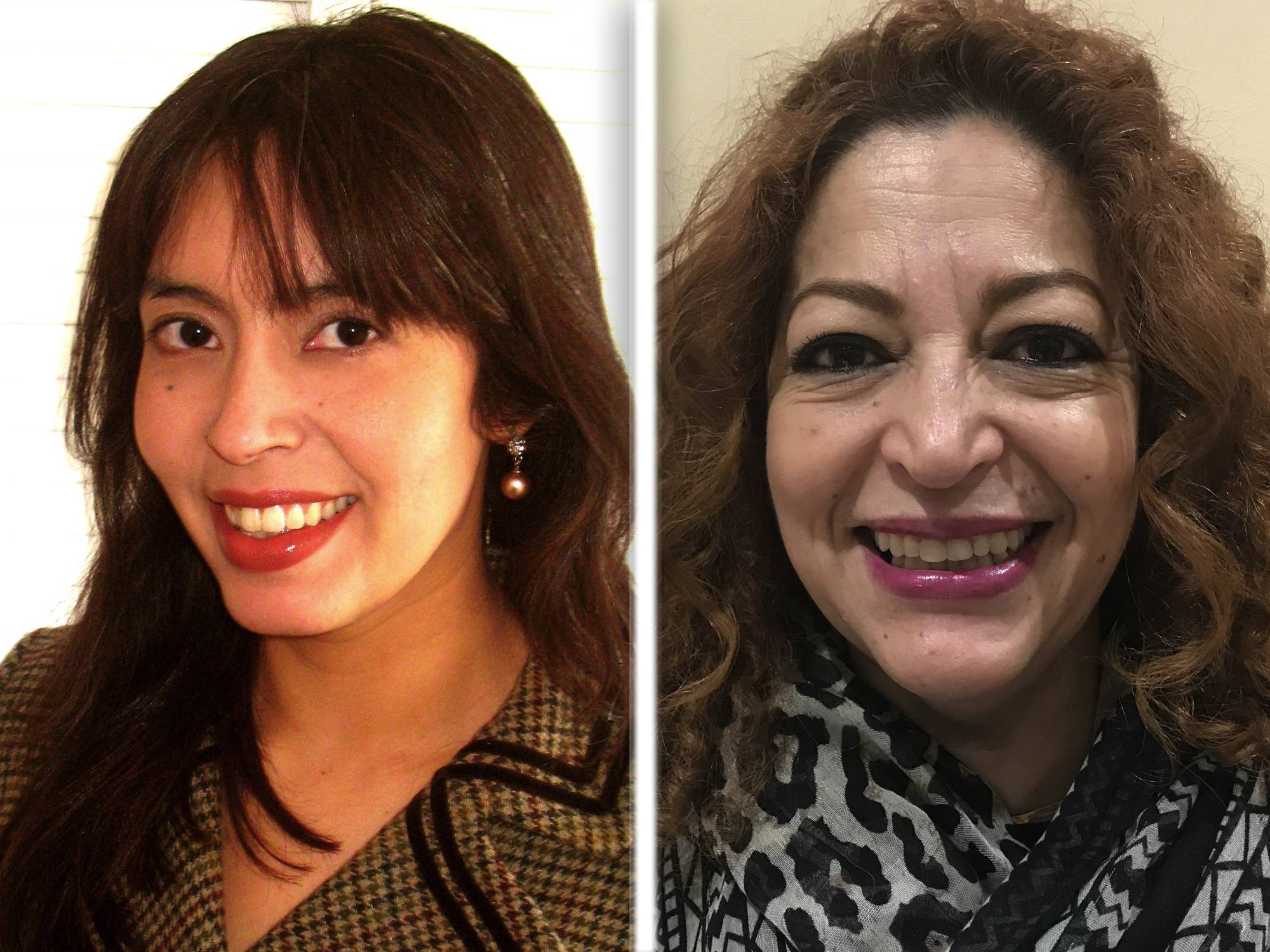Myrna Molina, left, and Blanca Rodriguez, right, are Democrat candidates for Kane County Board Dist.1
