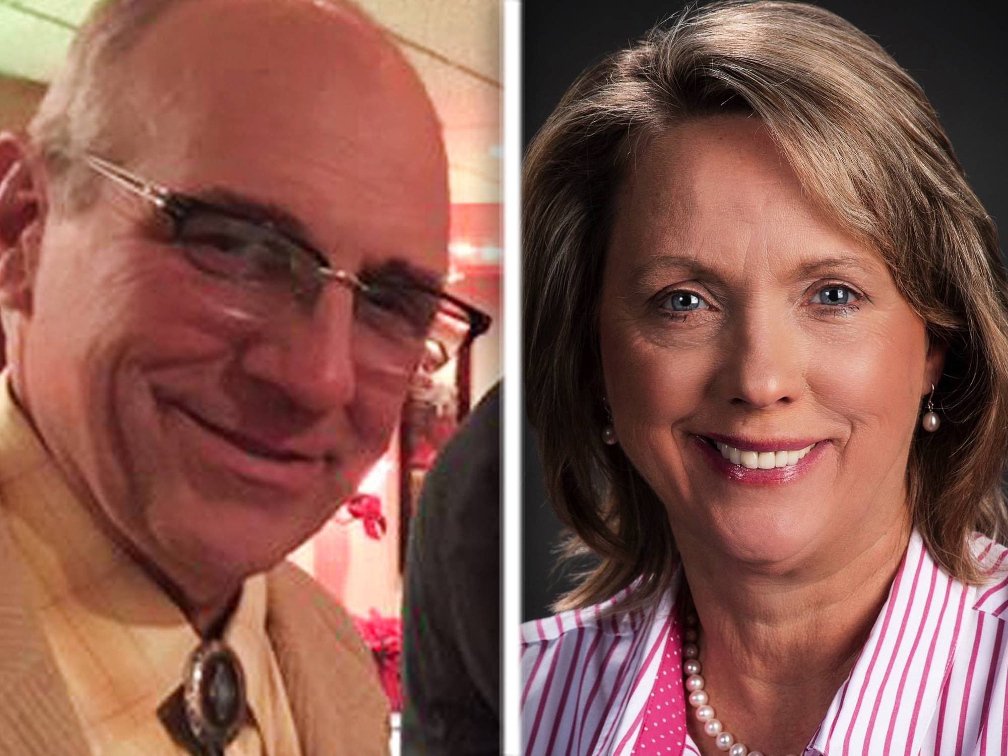 Tom Koppie, left, and Connie Von Keudell, right, are Republican candidates for Kane County Board, Dist. 9