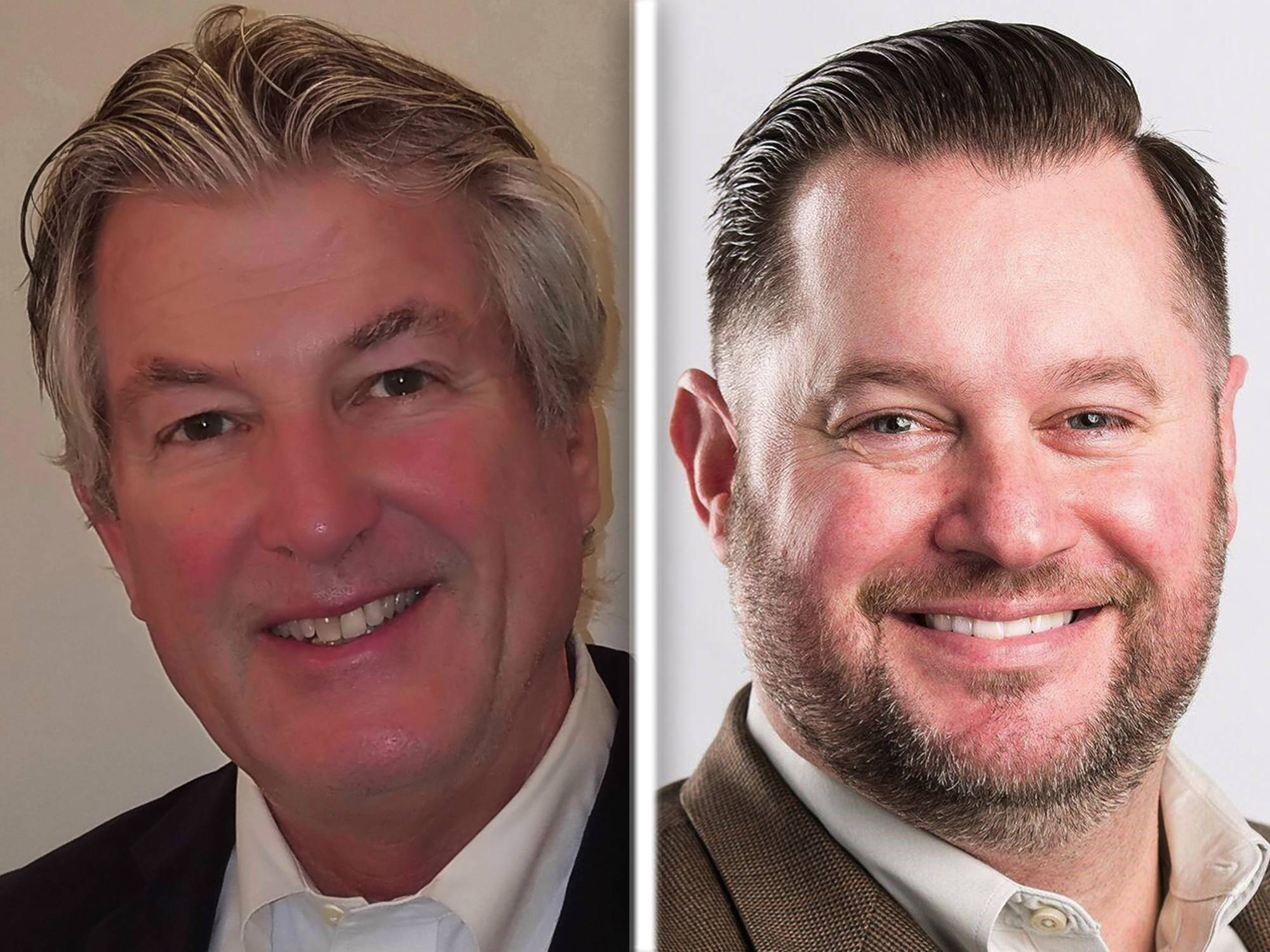 Philip Lewis, left, and Steve Weber, right, are Republican candidates for  Kane County Board Dist. 13